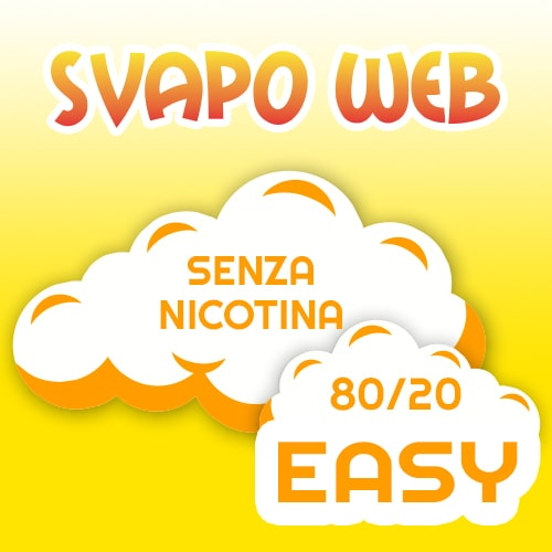SVAPOWEB Easy Liquido Base 10ml 80/20 a 0mg di Nicotina