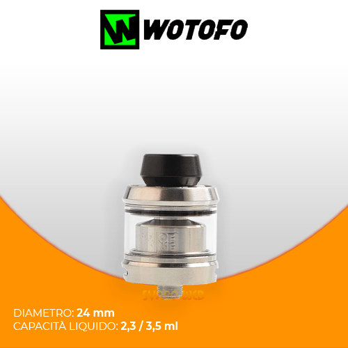 Wotofo Gear RTA 24mm Silver