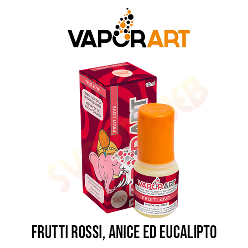 Vaporart Liquido Fruit Love Senza nicotina 10ml