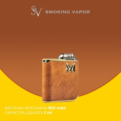 Kit Smoking Vapor Mi Pod Gentleman Brown Suede