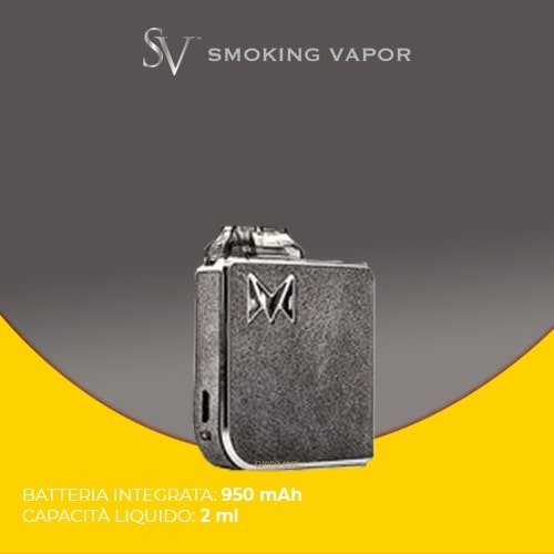 Kit Smoking Vapor Mi Pod Gentleman Gray Suede