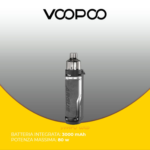 Sigaretta Elettronica VOOPOO Argus Pro 3000mAh 80w Vintage Grey & Silver
