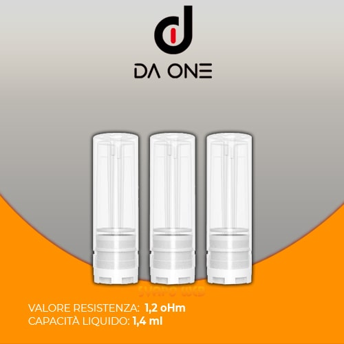 POD Da One per Vitale da 1.2ohm 1.4ml 3 Pezzi