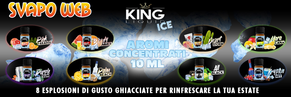 banner svapoweb aromi concentrati king liquid ice 10ml summer 2020