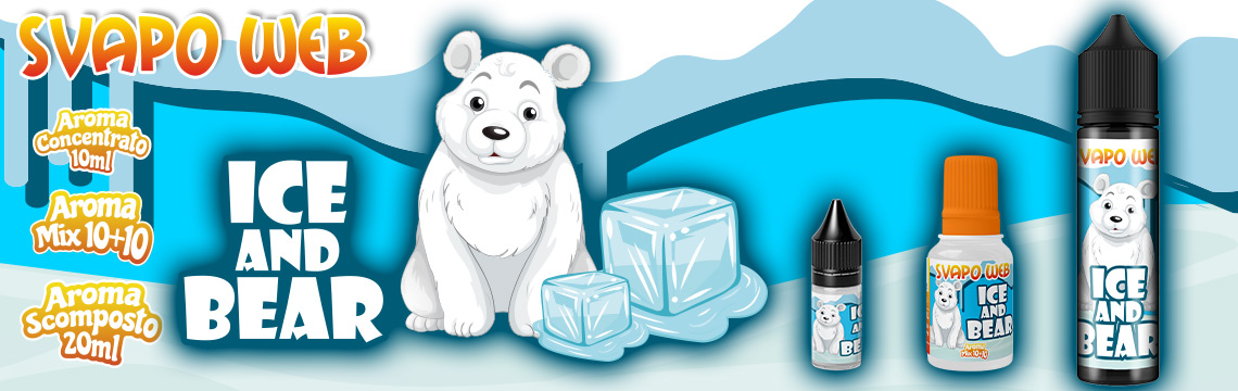 banner svapoweb aroma concentrato ice and bear 10ml