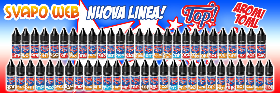 banner svapoweb aromi concentrati top 10ml