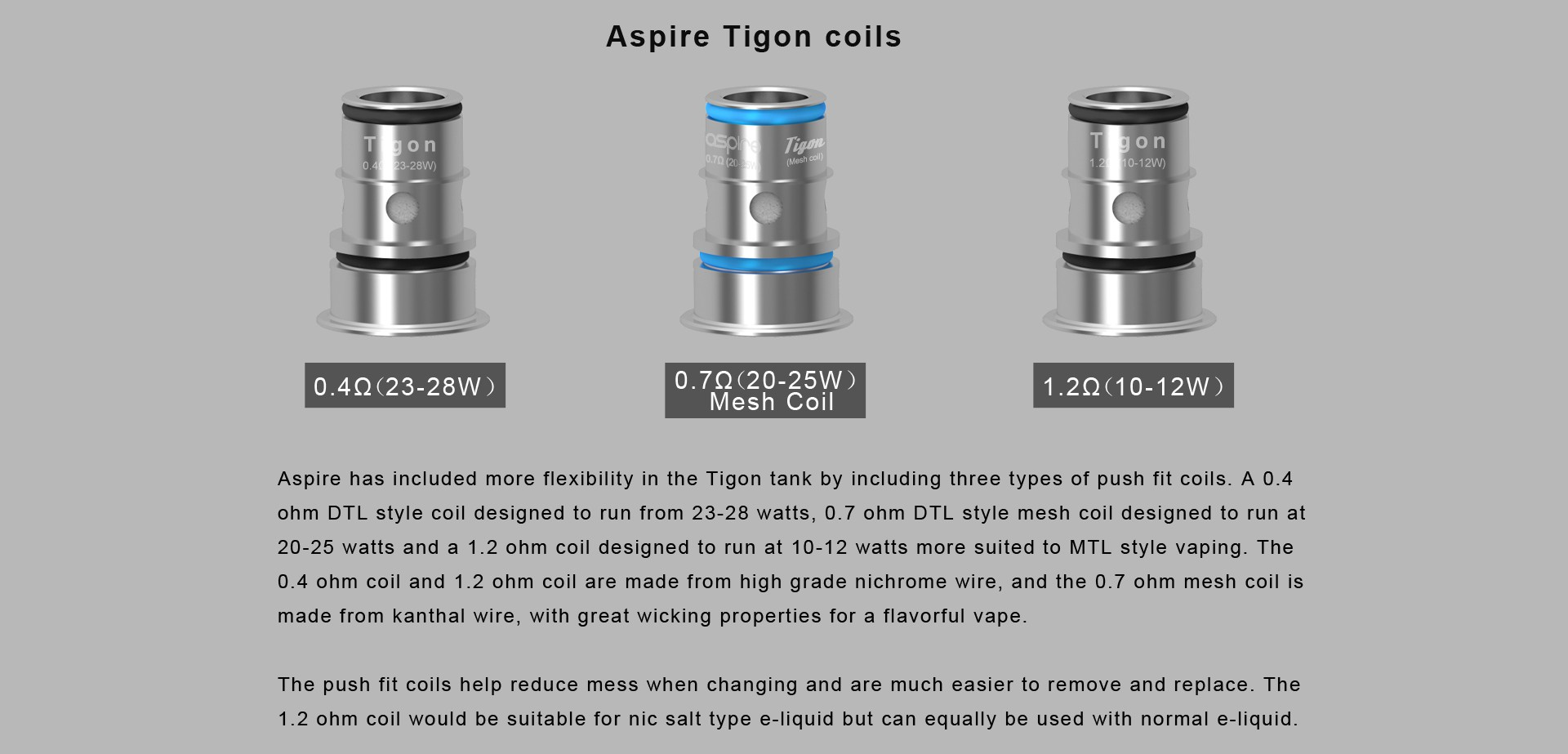 resistenze aspire tigon aio e kit aspire tigon aio