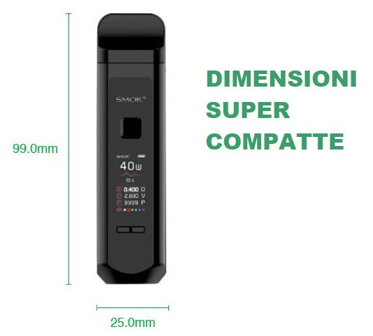 kit smok rpm40 dimensioni