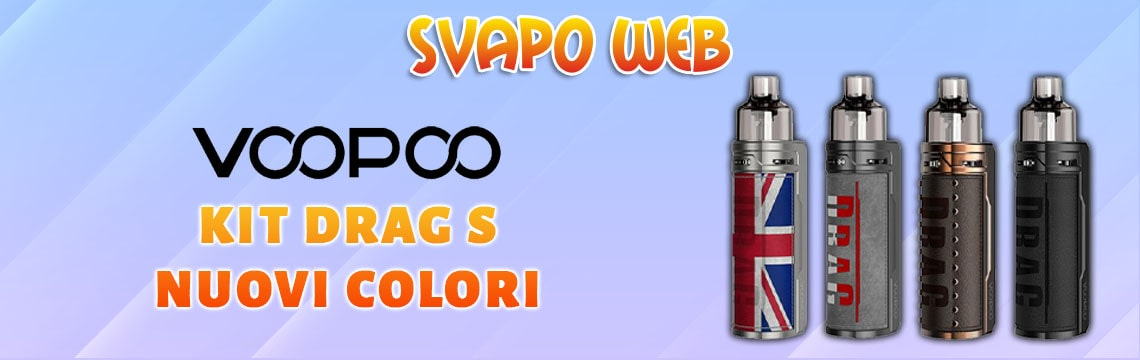 banner svapoweb kit voopoo drag s 2500mah 60w colors knight