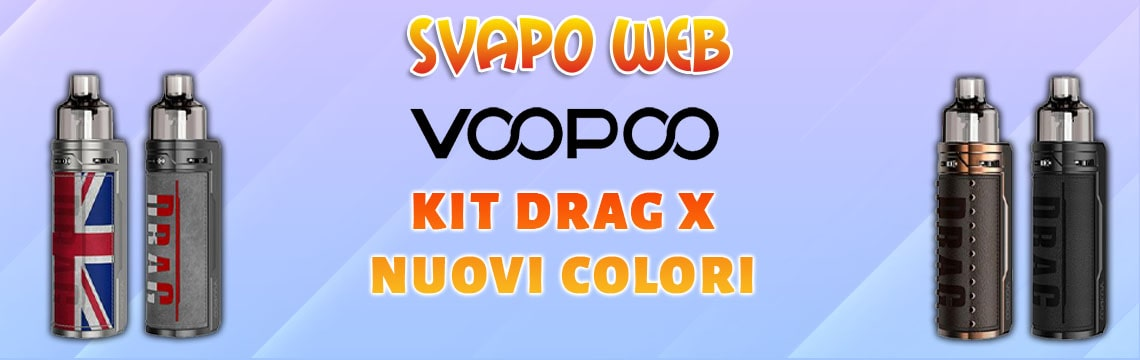 banner svapoweb kit voopoo drag x 18650 80w colors knight