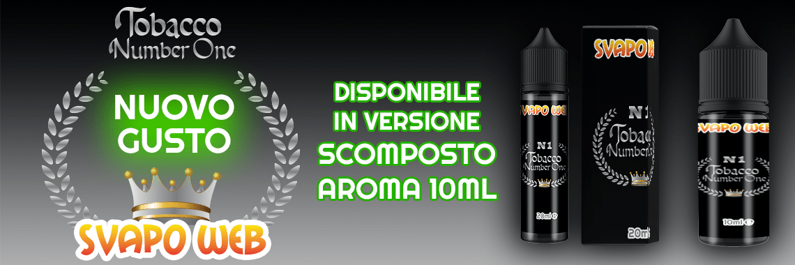aroma scomposto svapoweb number one 50ml banner